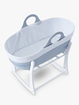 Tommee Tippee Sleepee Baby Moses Basket and Rocking Stand, Grey
