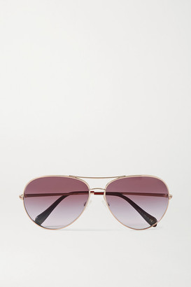 Oliver Peoples Sayer Aviator-style Rose Gold-tone Sunglasses - Pink