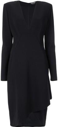 Tom Ford Asymmetric Drape Midi Dress