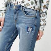 River Island Womens Petite embroidered Alannah jeans