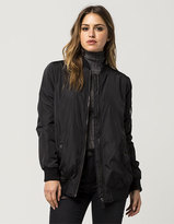 Ashley Nylon Boyfriend Womens Bomber Jacket