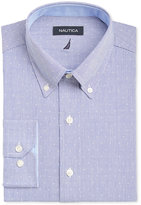 Nautica Men's Classic-Fit Blue White Dobby Dress Shirt