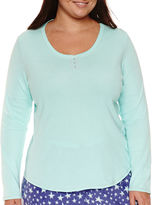 SLEEP CHIC Sleep Chic Long Sleeve Pajama Top-Plus