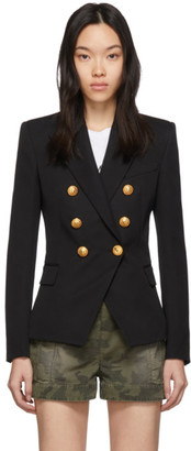 Balmain Black Wool Classic Double-Breasted Blazer