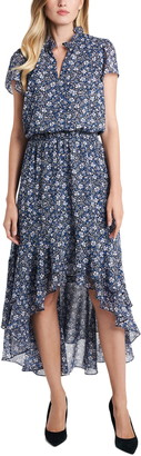 1 STATE Chateau Floral High/Low Dress