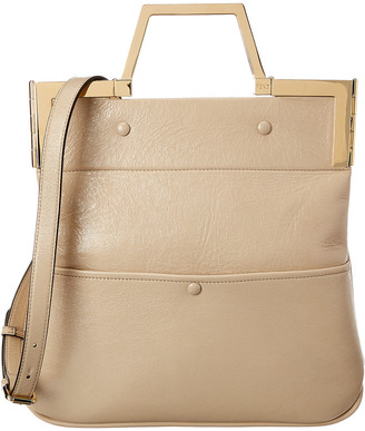 Fendi Flat Small Leather Shoulder Bag
