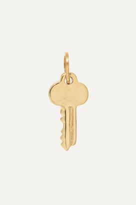 Catbird Net Sustain Key 14-karat Gold Charm
