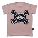 Nununu Infant Girl's Skull Patch Tee