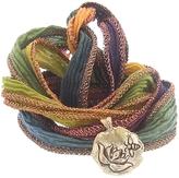 Catherine Michiels Acceptance Bronze Charm & Silk Bracelet Wrap