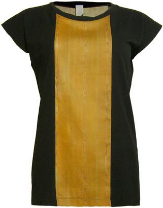 Format BASE Black & Wood Single Plain T-Shirt - S - Yellow/Black