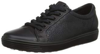 Ecco Womens Soft 7 Lace Trainers Black 51052 6 UK