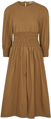 Three Graces Arianna brown cotton midi dress