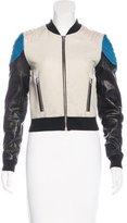 Rebecca Minkoff Leather Bomber Jacket
