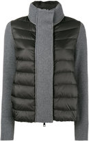 Moncler chunky waffle knit quilted puffer jacket