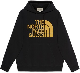 Gucci The North Face x Web print cotton sweatshirt