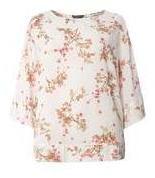 Dorothy Perkins Womens **Billie & Blossom Curve Ditsy Sprig Kimono- White