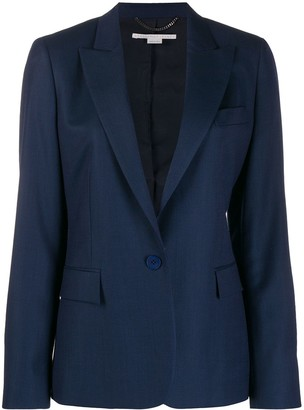 Stella McCartney Single Breasted Flap Pocket Blazer