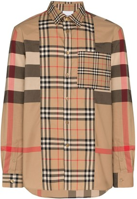 Burberry Tisdale Vintage Check multi-pattern shirt