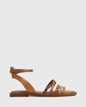 Wittner - Women's Brown Sandals - Cayenne Multi Leather Flat Strappy Sandals - Size One Size, 39 at The Iconic