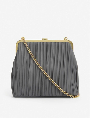 Mark Cross Susanna pleated leather shoulder bag