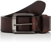 Barneys New York MEN'S DISTRESSED LEATHER BELT