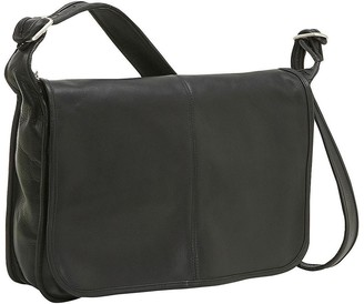 Le Donne Leather Classic Flap-Over Messenger Bag