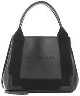 Balenciaga Navy Cabas XS leather shoulder bag