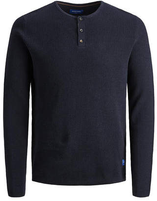 Jack and Jones Men Cotton Structured Pullover Long Sleeve Sweater