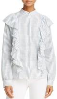 Rebecca Minkoff Ciara Stripe Ruffle Top