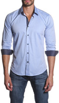 Jared Lang Long Sleeve Spread Collar Semi-Fitted Shirt