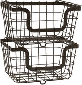 Mikasa General Store 2 Stacking & Nesting Baskets