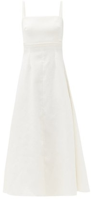 Emilia Wickstead Freya Square-neck Cloque Midi Dress - Ivory