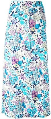 Céline Pre Owned Pre-Owned Floral Print Skirt