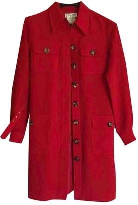 Saint Laurent Red Trench Coat for Women Vintage