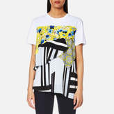 MSGM Women's Printed Volume Frill Top White