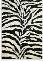 Bed Bath & Beyond Shaggy Zebra Rug in Black