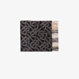 Burberry black Monogram vintage check cashmere scarf