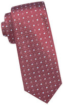 Vince Camuto Square-Dot Pattern Silk Tie