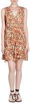 Isabel Marant Fara V-Neck Sleeveless Floral-Burnout Side Wrap Dress
