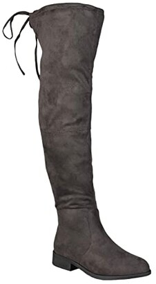 Journee Collection Mount Boot - Wide Calf (Black) Women's Shoes