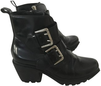 Opening Ceremony Black Leather Ankle boots