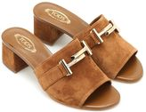 Tod's 38a Double T Suede Slippers