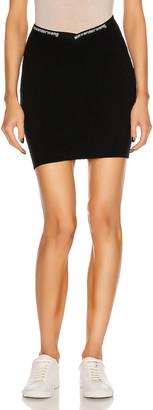 Alexander Wang Bodycon Logo Mini Skirt in Black | FWRD