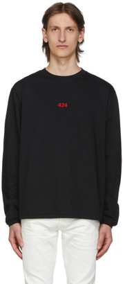 424 Black Logo Long Sleeve T-Shirt