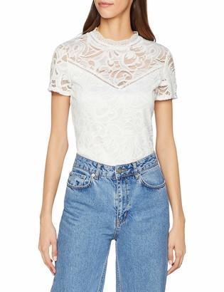 VILA CLOTHES Women's Vistasia S/s Lace Top-Noos Vest