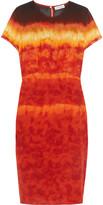 Altuzarra Glaze tie-dyed silk-satin dress
