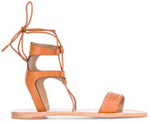 RED Valentino ankle strap flat sandals