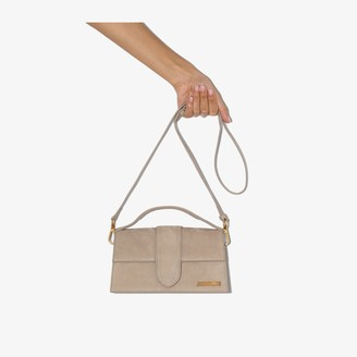 Jacquemus beige Le Grand Bambino suede shoulder bag