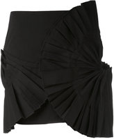 Jacquemus pleated detail mini skirt - women - Cotton/Polyester - 38