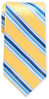 Ike Behar Ike By Yellow & Blue Stripe Tie